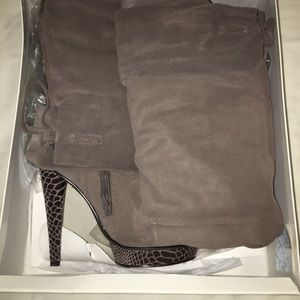 Bakers Lila Thigh High Boots, Suede Grey